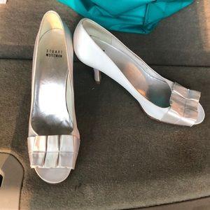 Stuart Weitzman white heels